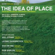 Plenary Speaker, The Idea of Place, Space and Culture 20th Anniversary Conference